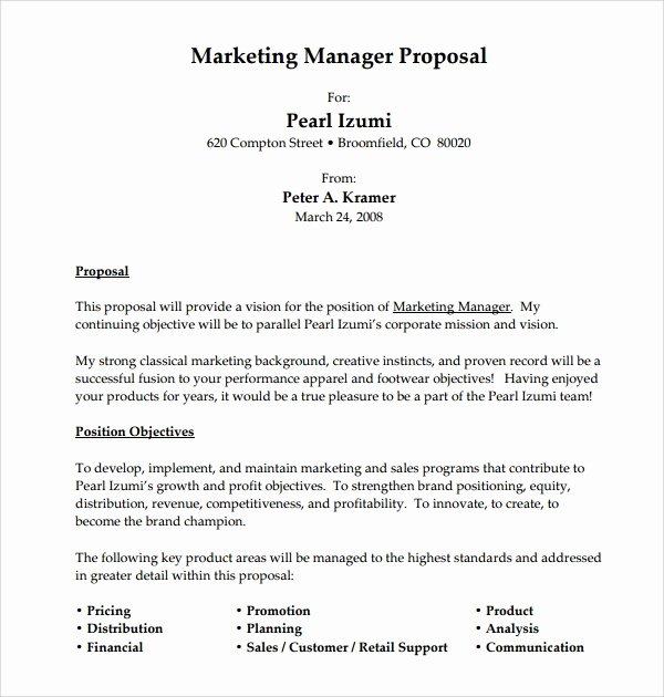 Construction Job Proposal Template New 12 Sample Job Proposal Templates