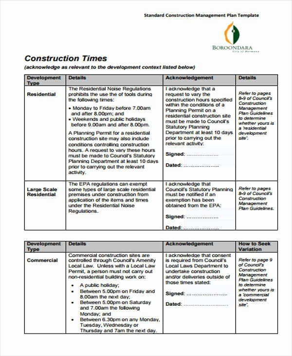 Construction Management Plan Template Awesome 34 Management Plan Templates In Pdf
