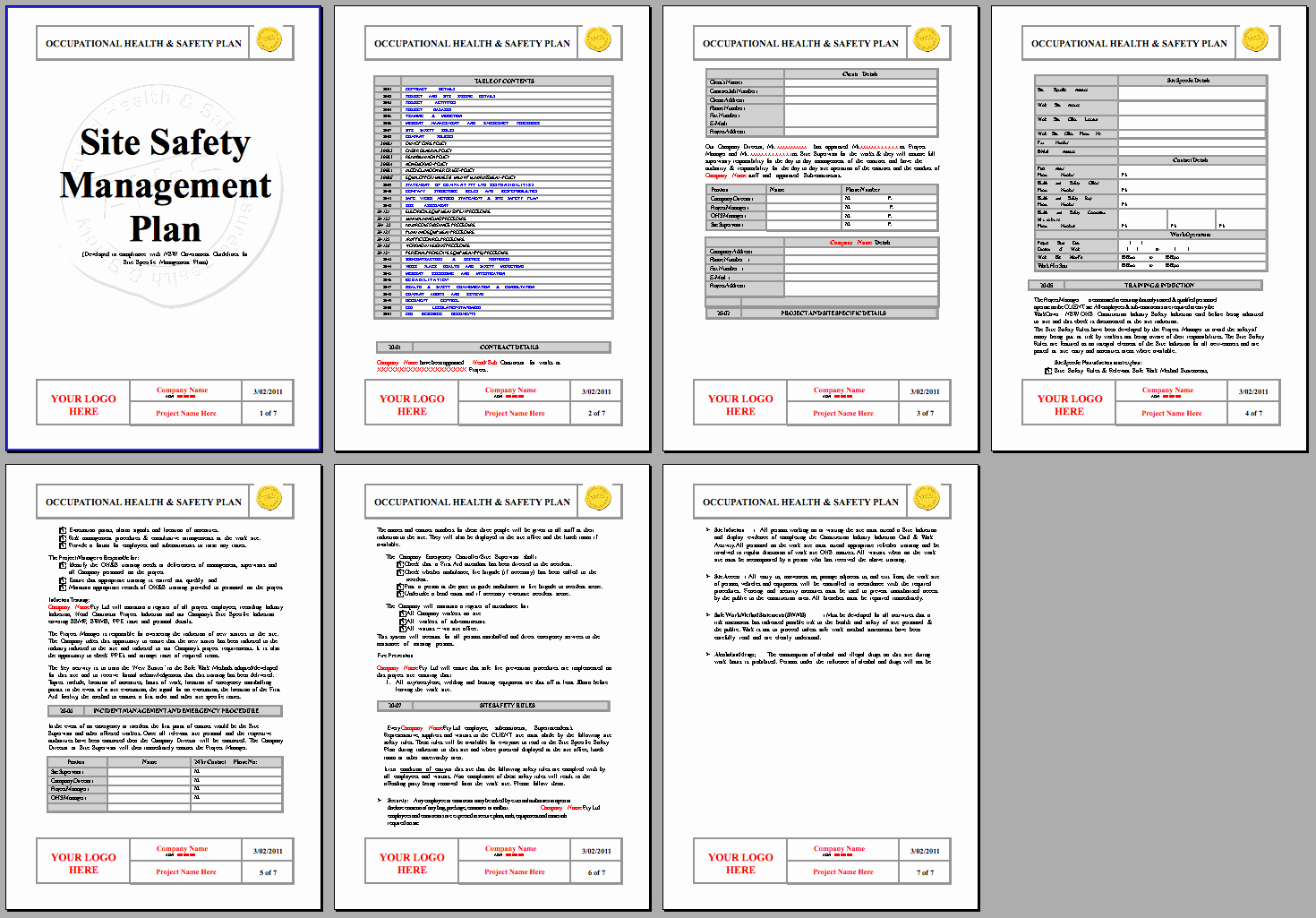 Construction Management Plan Template Fresh Safety Plan Template