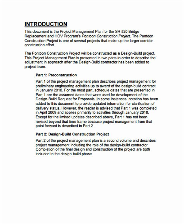 Construction Management Plan Template Inspirational 35 Management Plan Example