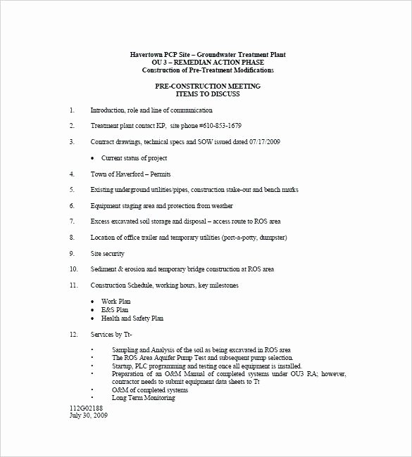Construction Meeting Agenda Template Best Of Construction Meeting Agenda Template Pre Uk – Lytte
