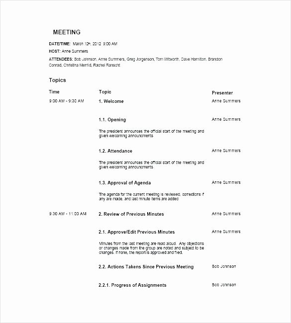 Construction Meeting Agenda Template Elegant Construction Progress Meeting Agenda Template Project
