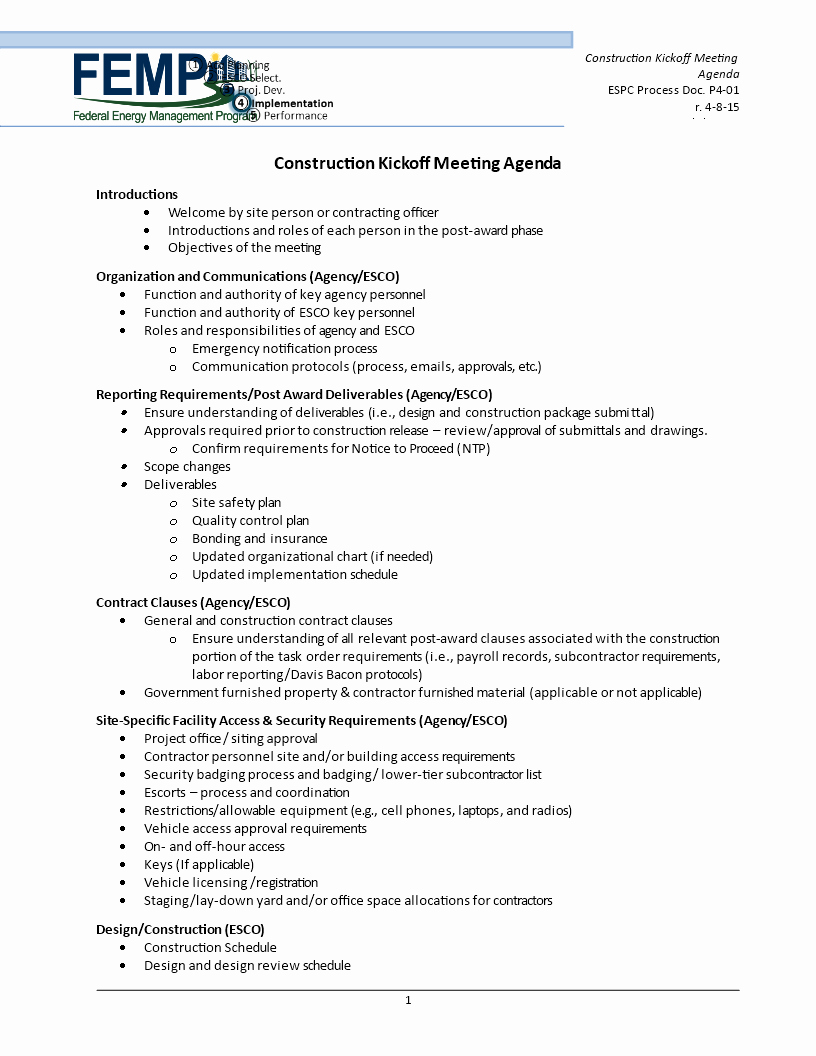 Construction Meeting Agenda Template Elegant Free Construction Kick F Meeting Agenda
