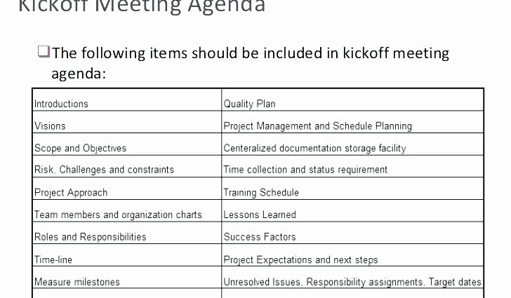 Construction Meeting Agenda Template Inspirational Kick F Meeting Template X Construction Agenda Project