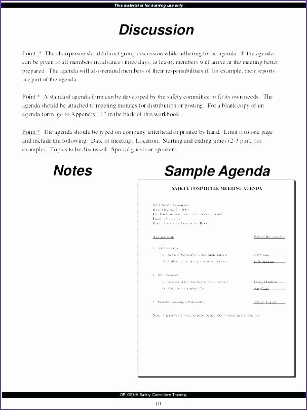 Construction Meeting Agenda Template Inspirational Safety Meeting Template