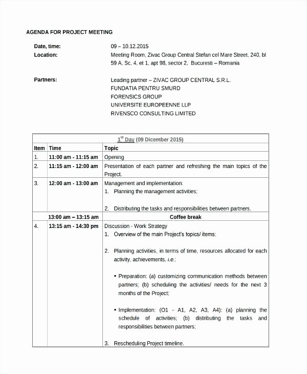 Construction Meeting Agenda Template Unique Project Meeting Agenda Construction Management Template