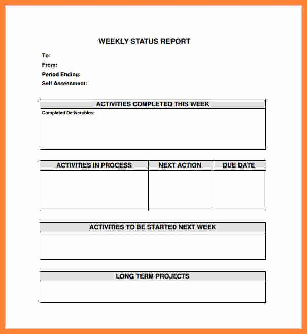 7 weekly construction progress report template