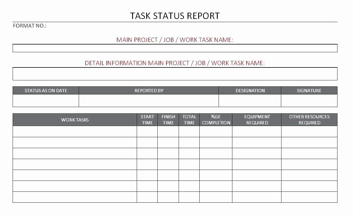 Construction Progress Report Template Fresh Progress Report Template for Projects