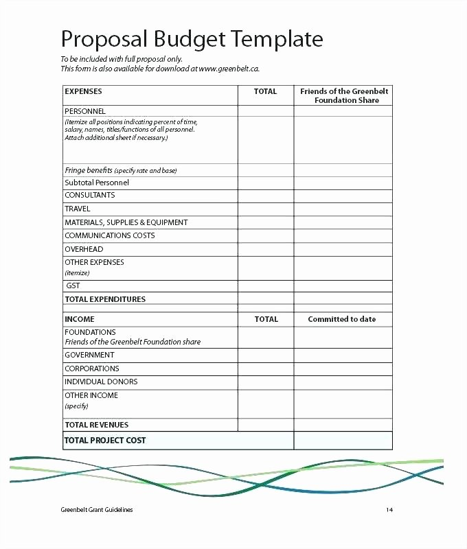 Construction Project Budget Template Best Of Simple Project Bud Template Mon Grant Application