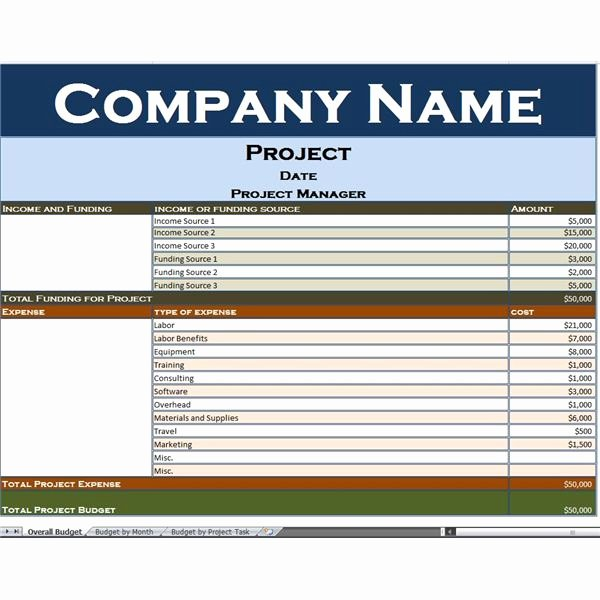Construction Project Budget Template Inspirational Use This Excel Project Bud Template to Simplify Your