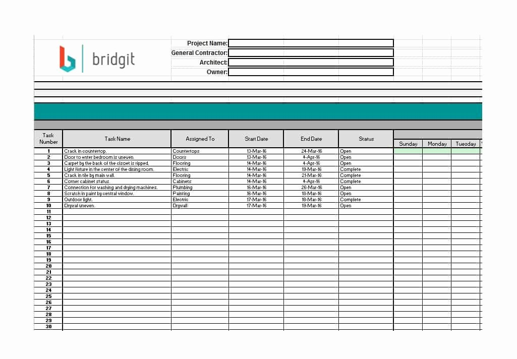 Construction Project Schedule Template Best Of 21 Construction Schedule Templates In Word & Excel