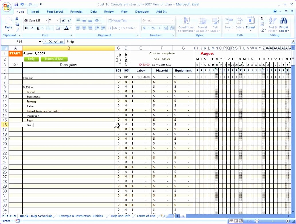 Construction Project Schedule Template Excel Best Of 10 Construction Project Schedule Template Excel Free