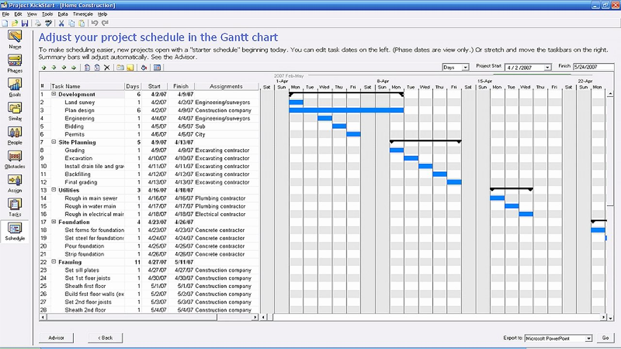 Construction Project Schedule Template New Construction Work Plan Construction Project Management