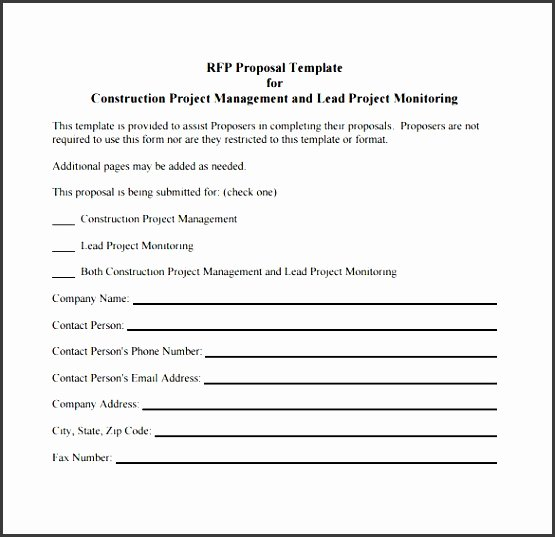 Construction Proposal Template Pdf Awesome 11 Construction Project Outline Template