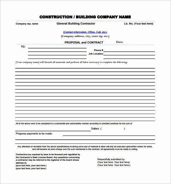 Construction Proposal Template Pdf Fresh Construction Proposal Templates 19 Free Word Excel