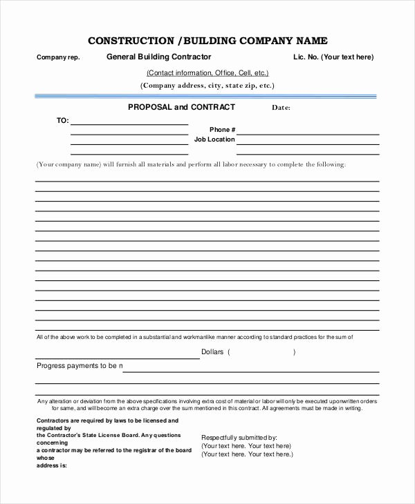 Construction Proposal Template Pdf Lovely Construction Project Proposal Templates 6 Free Pdf