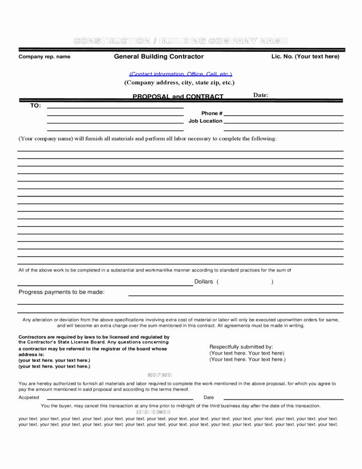 Construction Proposal Template Pdf Luxury Construction Proposal Template In Pdf format Free Download