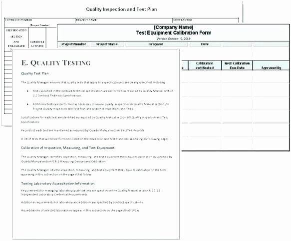 Construction Quality Control Plan Template Best Of Construction Quality Control Plan Template Free Design