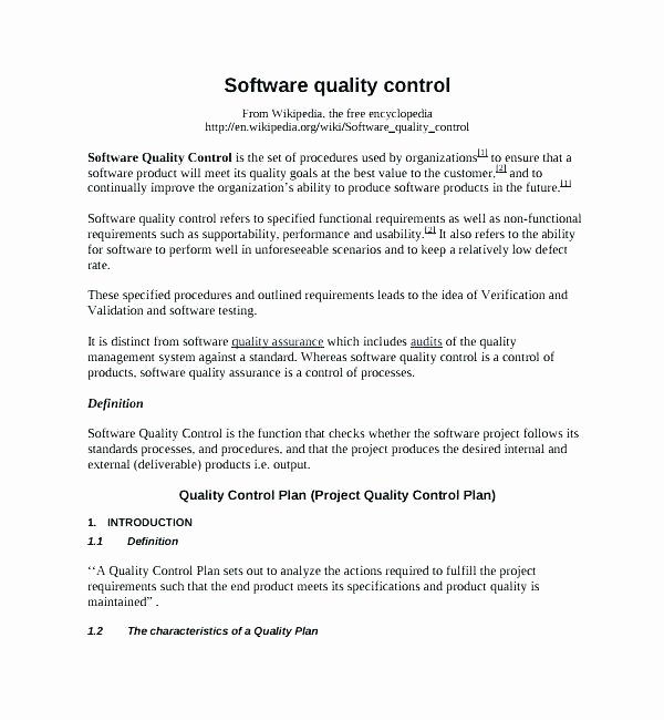 Construction Quality Control Plan Template Elegant Quality Management Plan Template Quality Plan Template