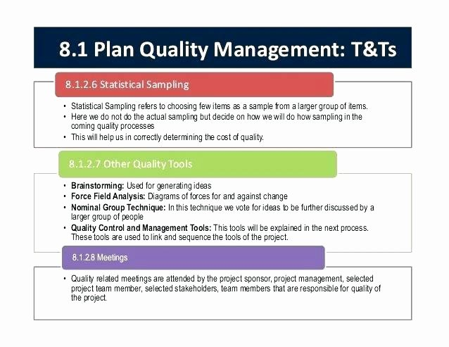Construction Quality Control Plan Template Fresh Fresh Project Quality Plan Sample Template Unique Examples