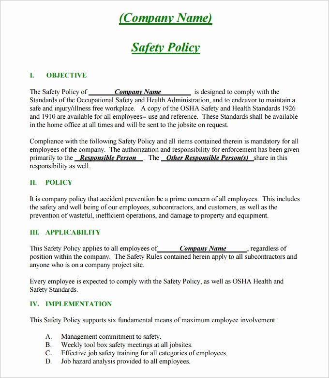 Construction Safety Plan Template Best Of 24 Of Site Safety Plan Template