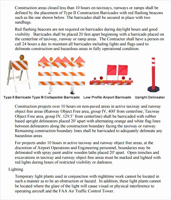 Construction Safety Plan Template Best Of 8 Sample Safety Plan Templates