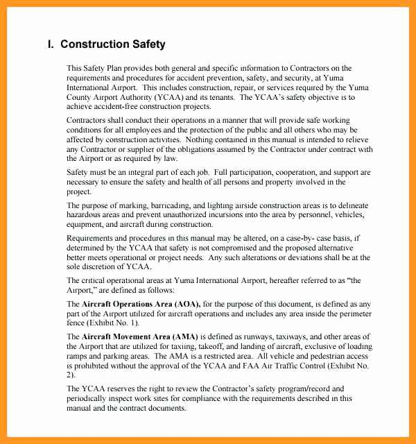 Construction Safety Plan Template Elegant 2 3 Site Safety Plan