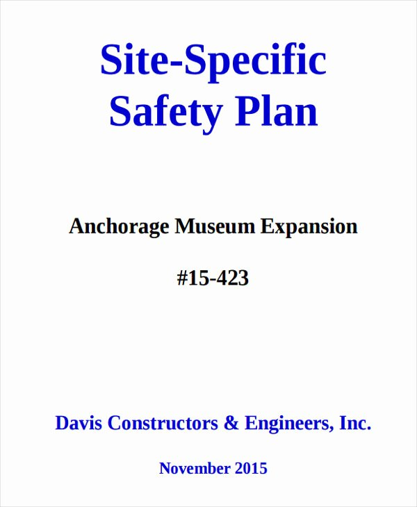 Construction Safety Plan Template New 29 Safety Plan Samples