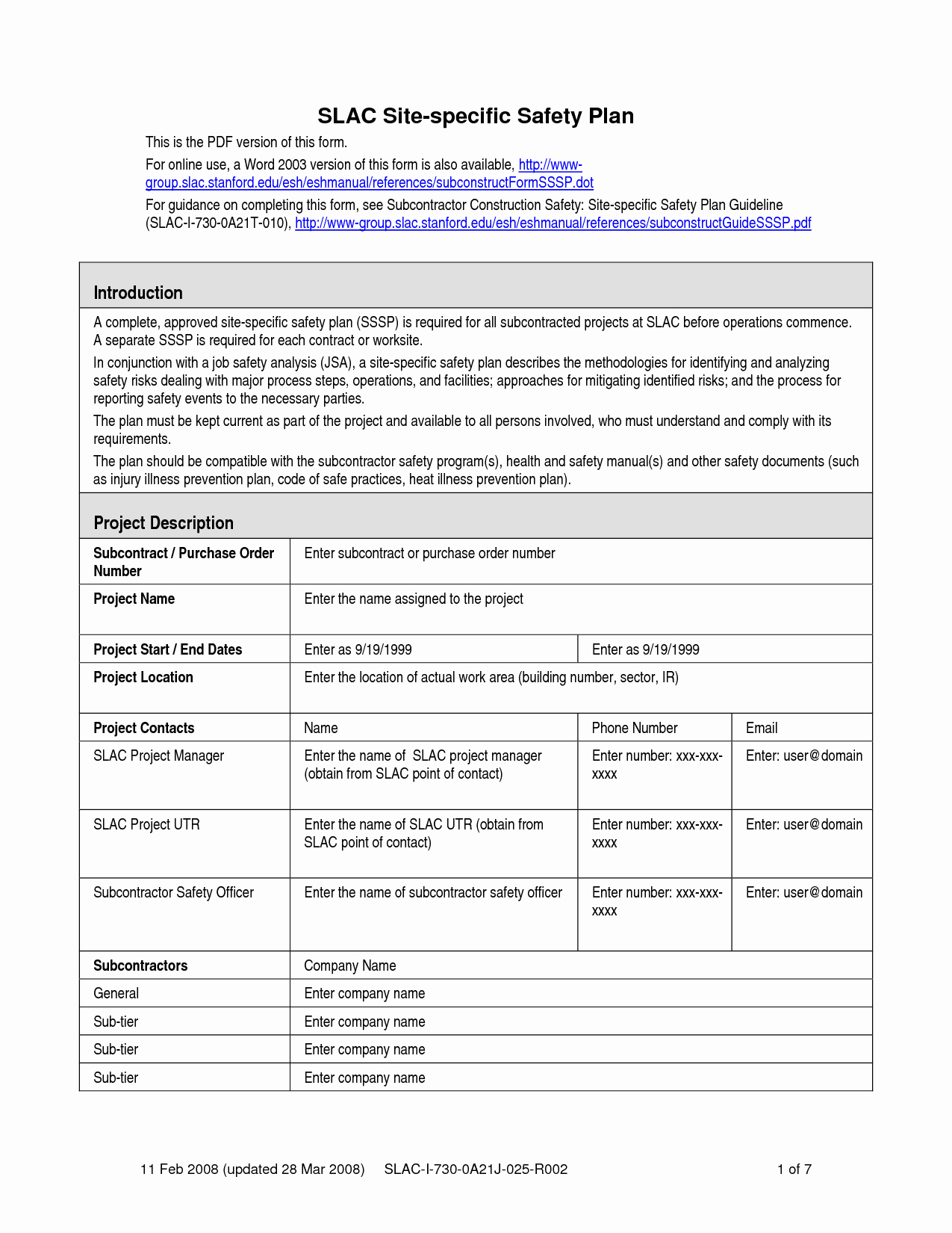 Construction Safety Plan Template Unique Safety Plan Template