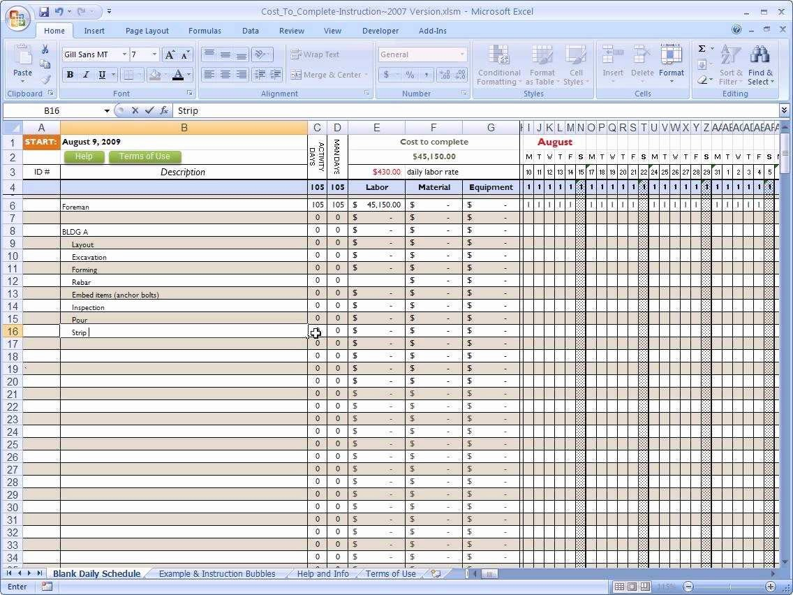 Construction Schedule Excel Template Free Luxury Lovely Free Mercial Construction Schedule Excel