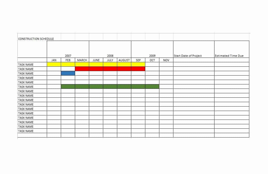 Construction Schedule Excel Template Free New 21 Construction Schedule Templates In Word & Excel