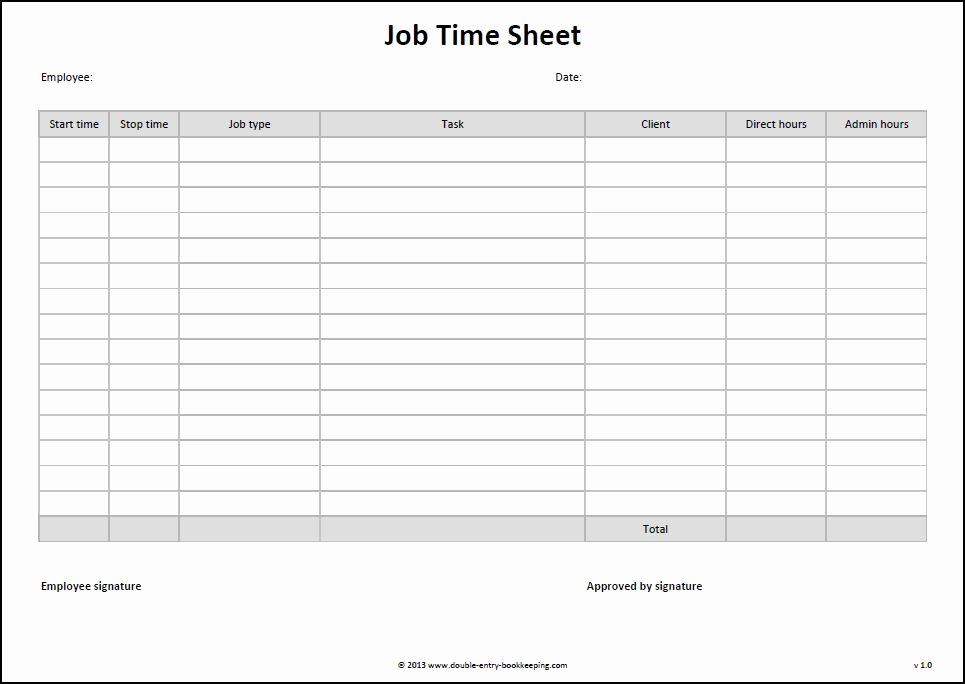 Construction Time Card Template Best Of Job Time Sheet Template