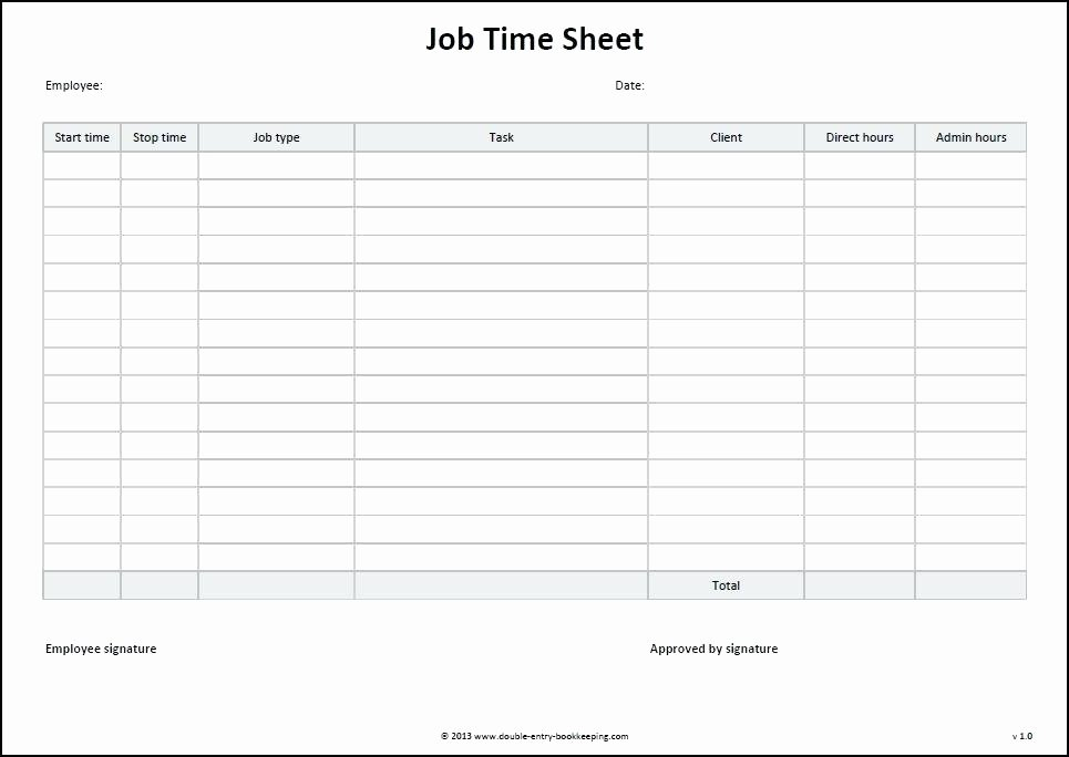 Construction Time Card Template New Monthly Time Sheets Template Excel Job Sheet Download for