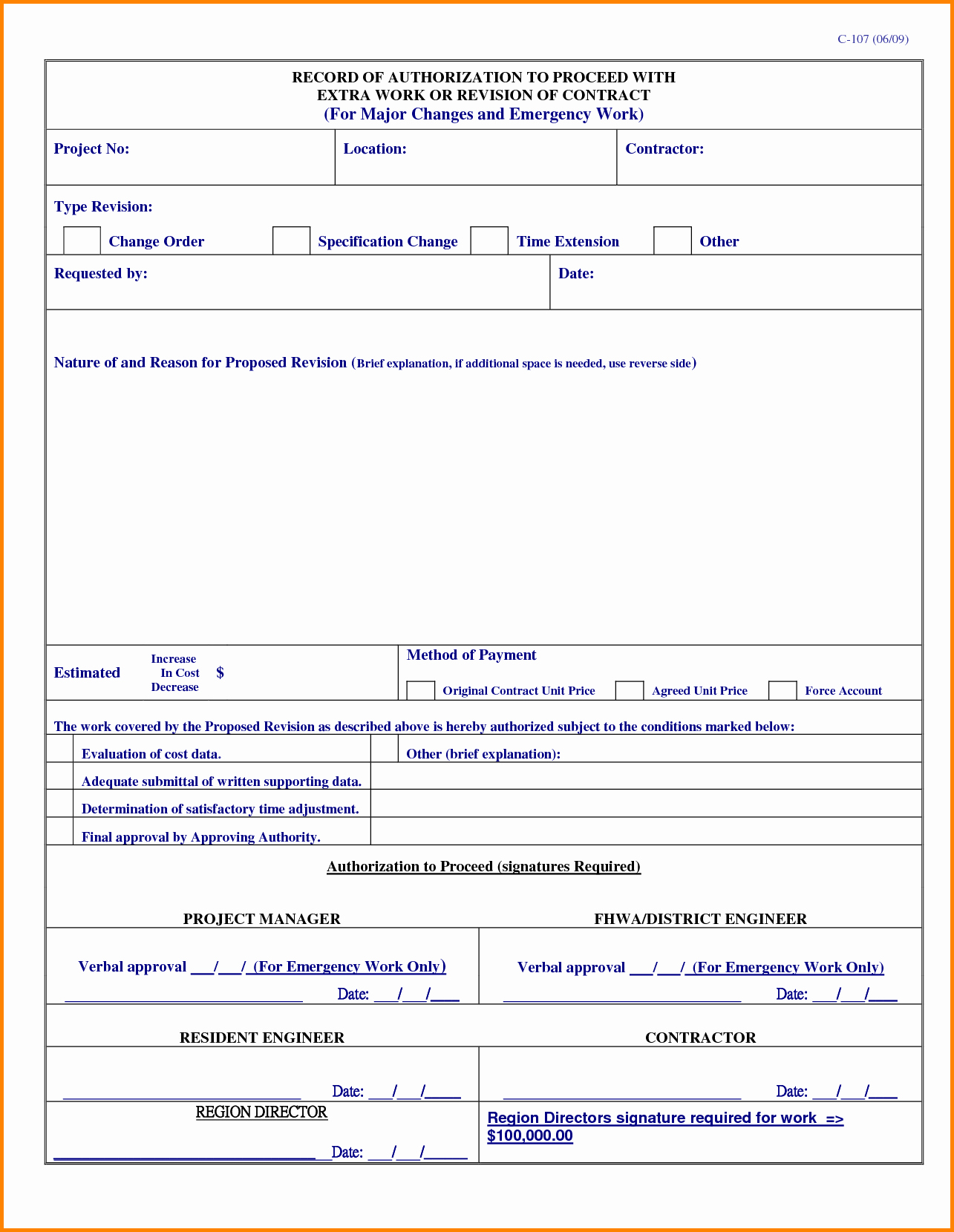 Construction Work order Template Best Of Bank Change order form Template Gallery Professional
