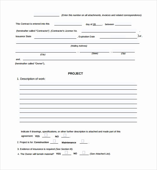 Construction Work order Template Unique 6 Sample Construction Work order forms – Pdf