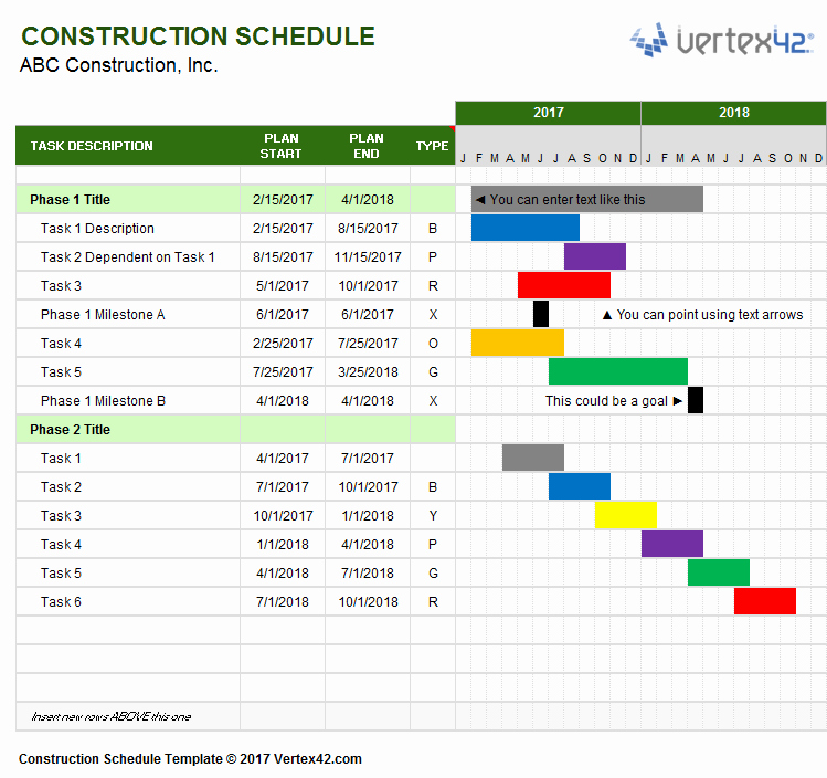 Construction Work Plan Template Awesome Construction Schedule Template