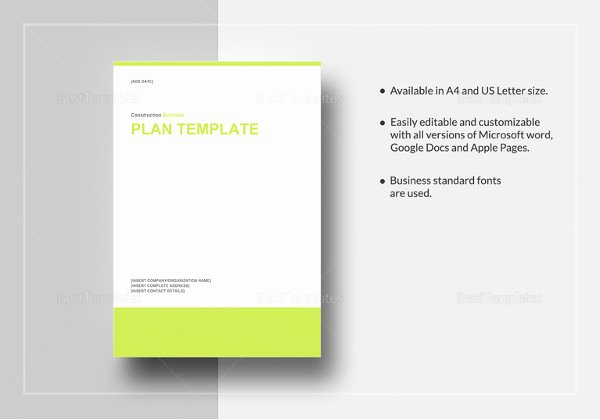 Construction Work Plan Template Best Of Work Plan Template 15 Free Word Pdf Documents Download