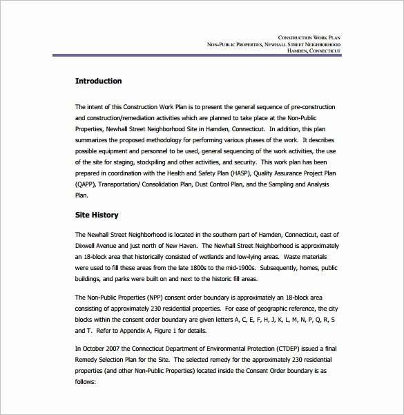 Construction Work Plan Template Luxury Work Plan Template 15 Free Word Pdf Documents Download