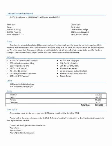 Construction Work Proposal Template Elegant 32 Sample Proposal Templates In Microsoft Word