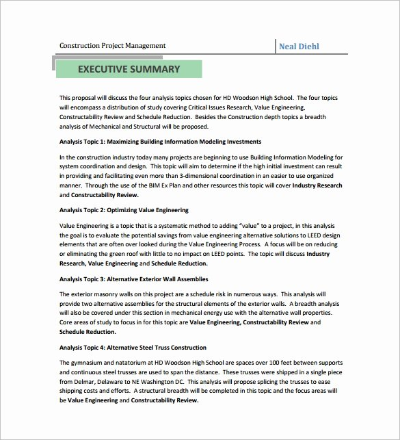 Construction Work Proposal Template New Construction Proposal Templates 17 Free Word Pdf