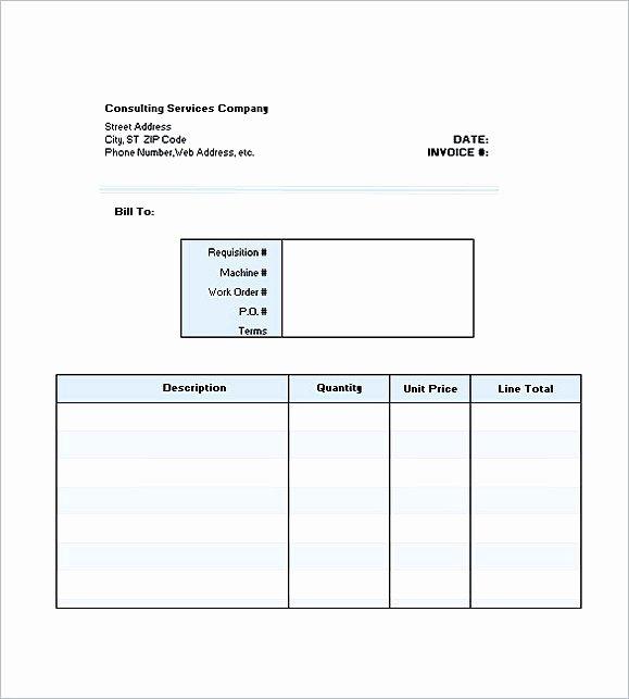 Consultant Invoice Template Excel Beautiful Consultant Invoice Template