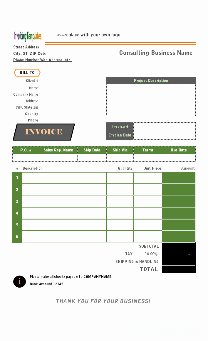 Consultant Invoice Template Excel Beautiful Consulting Invoice Template
