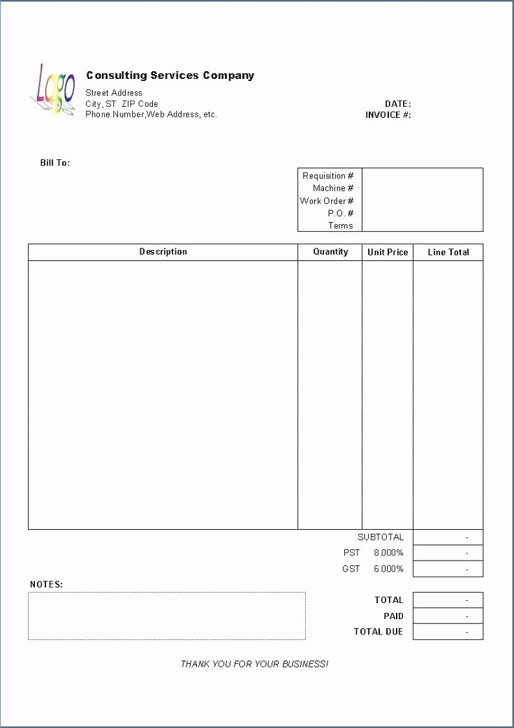 Consultant Invoice Template Excel Best Of [download] Consultant Invoice Template Excel Bonsai