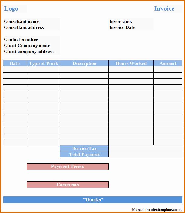 Consultant Invoice Template Excel Elegant 8 Consultant Invoice Template