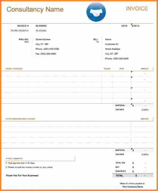 Consultant Invoice Template Excel Lovely Free Download Consultant Invoice Templates Ms Excel