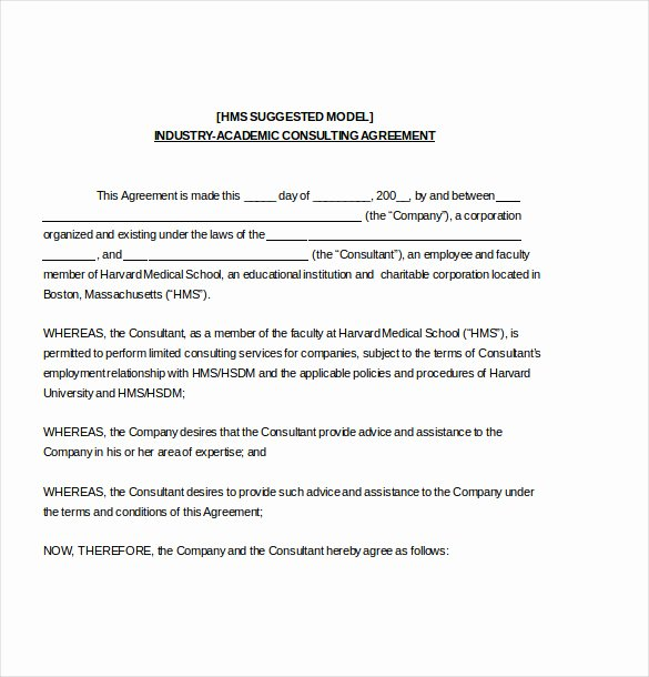 Consulting Contract Template Free Best Of Consulting Agreement Template – 10 Free Word Pdf