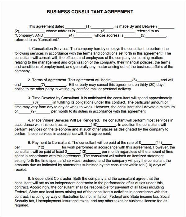 Consulting Contract Template Free Fresh Consulting Agreement 7 Free Pdf Doc Download