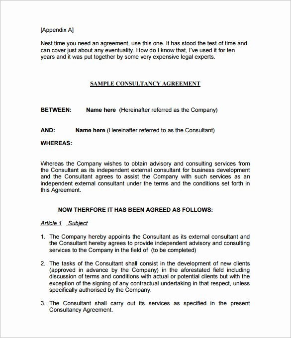 Consulting Contract Template Free Inspirational 10 Consulting Contract Templates Pdf Doc