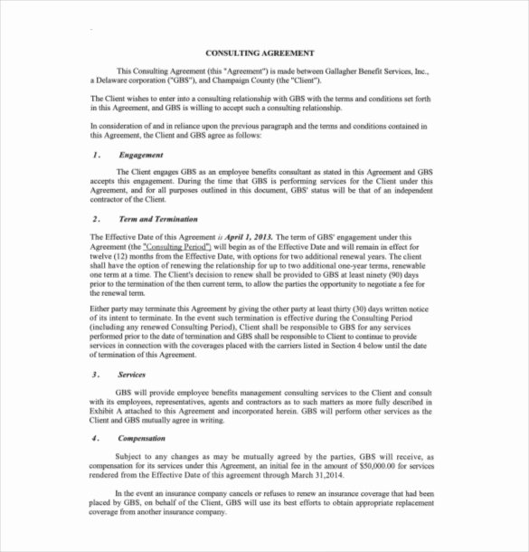 Consulting Contract Template Free Inspirational 15 Consulting Agreement Templates Docs Pages