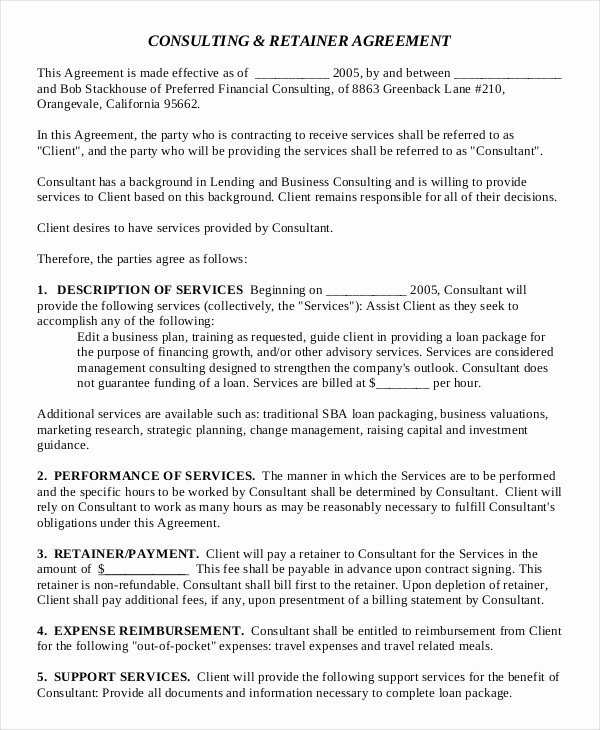 Consulting Contract Template Free Inspirational 17 Consulting Agreement Templates Word Docs